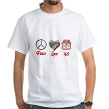 Funny Peace love birthday Shirt