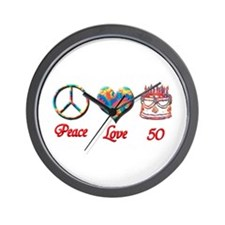 Cute 50th birthday Wall Clock
