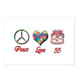 Funny 55th birthday Postcards (Package of 8)