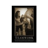 Teamwork Rectangle Magnet (10 pack)