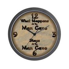 What Happens At The Man Cave.. Wall Clock