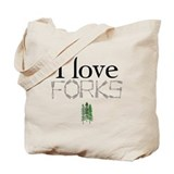 Love Forks Tote Bag