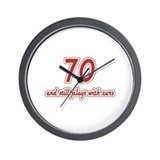 Car Lover 70th Birthday Wall Clock