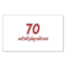 Car Lover 70th Birthday Decal