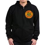 Florida Divison of Motor Vehi Zip Hoodie (dark)