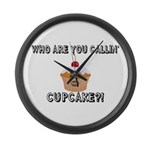 Don't Call Me Cupcake Large Wall Clock