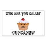 Don't Call Me Cupcake Sticker (Rectangle)
