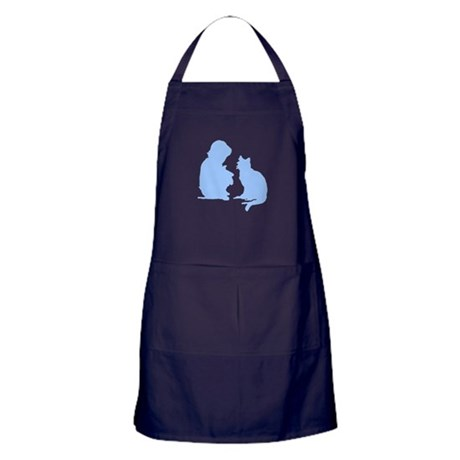 Child and Cat Apron (dark)