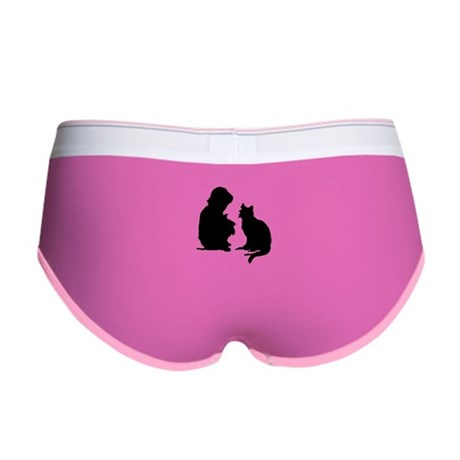 Child and Cat Women's Boy Brief