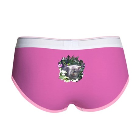 Flower Kitten Women's Boy Brief