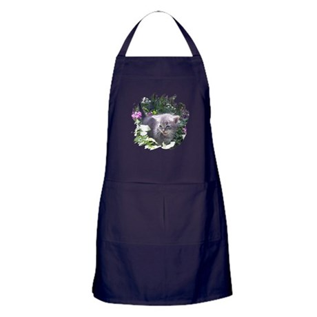 Flower Kitten Apron (dark)