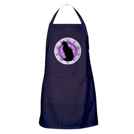 Kaleidoscope Cat Apron (dark)