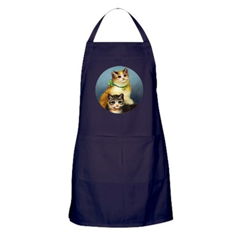 Cute Kittens Apron (dark)