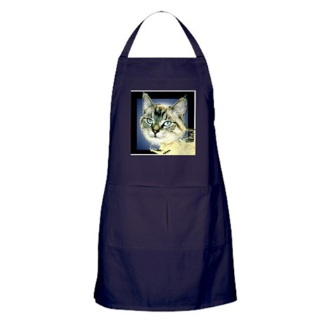 Blue Eyed Kitten Apron (dark)