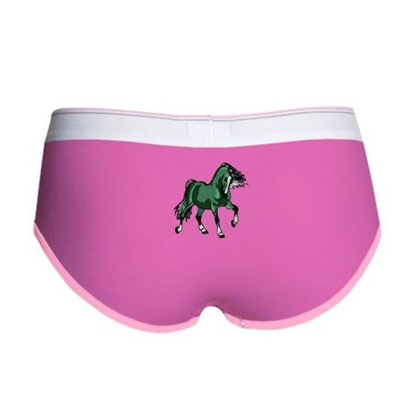 Fantasy Horse Green Women's Boy Brief
