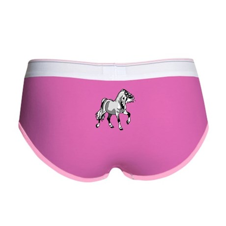 Spirited Horse White Women's Boy Brief