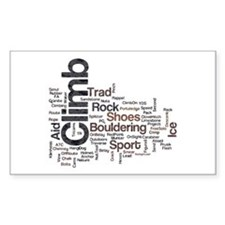 Climbing Words Decal