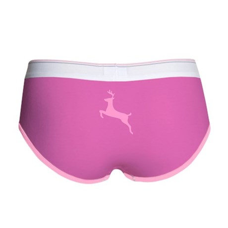 Pink Leaping Deer Women's Boy Brief