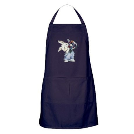 Bunny with Flowers Apron (dark)