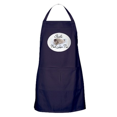 Seals Need Love Apron (dark)