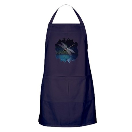 Dragonfly at Night Apron (dark)