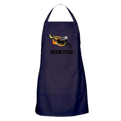Flaming Awesome Possum Apron (dark)