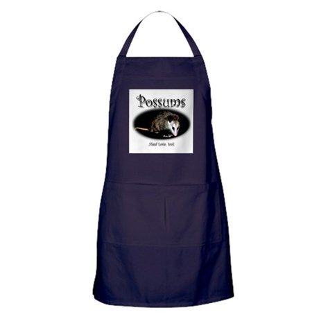 Possums Need Love Too Apron (dark)
