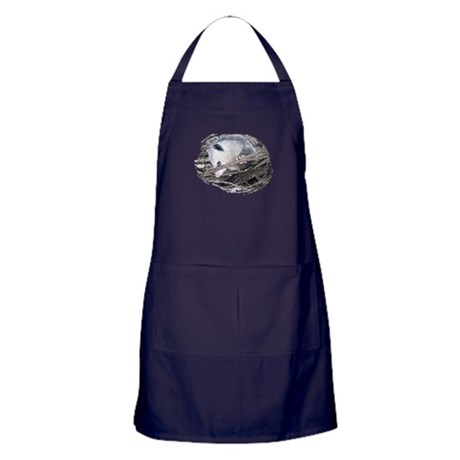 Peek-a-Boo Possum Apron (dark)
