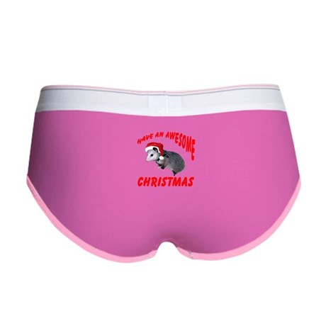 Santa Helper Possum Women's Boy Brief