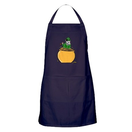 Possum Leprechaun Apron (dark)