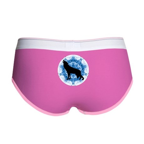 Wolf Silhouette Women's Boy Brief