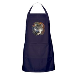 Gray Wolf Apron (dark)