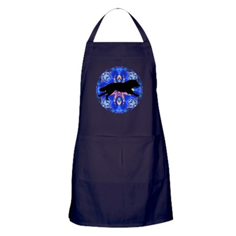 Running Wolf Apron (dark)