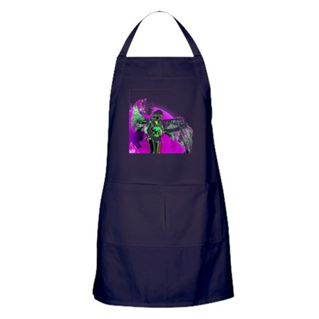 Purple Angel Art Apron (dark)