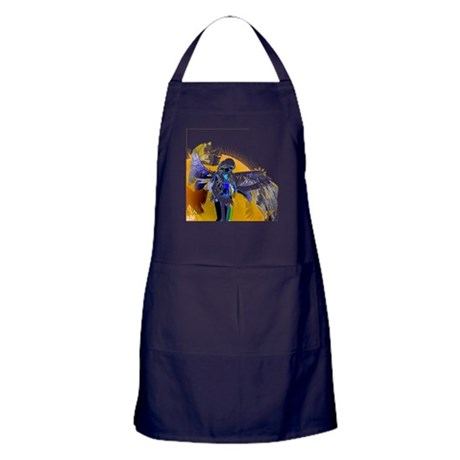 Golden Angel Art Apron (dark)