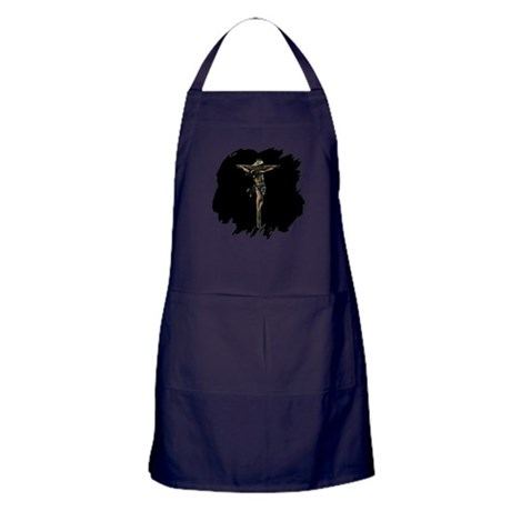 Jesus on the Cross Apron (dark)
