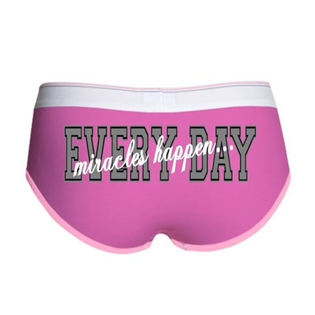 Miracles Happen Women's Boy Brief