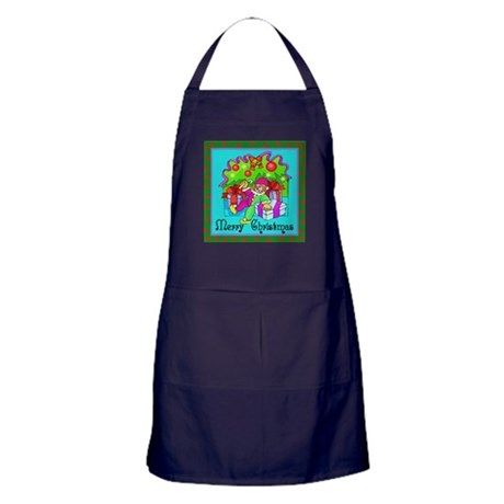 Merry Christmas Clown Apron (dark)