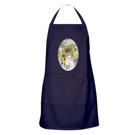 Christmas Tree Apron (dark)
