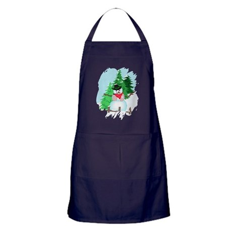 Forest Snowman Apron (dark)