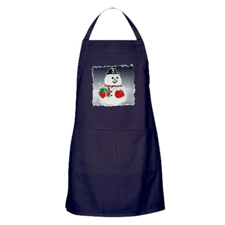 Winter Snowman Apron (dark)