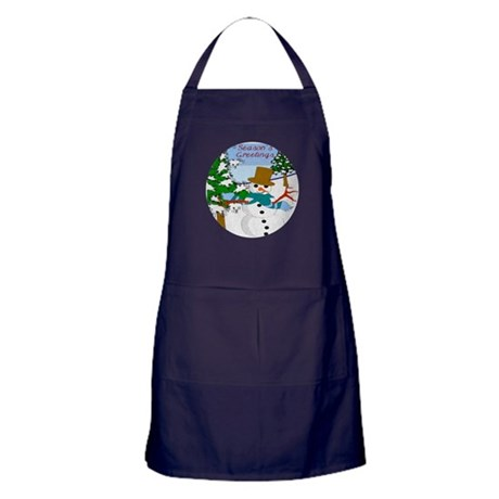 Season's Greetings Apron (dark)