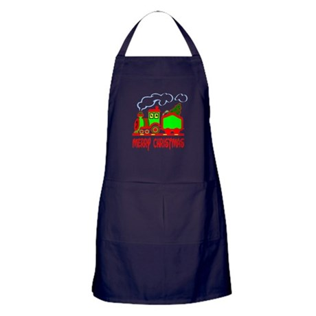 Christmas Train Apron (dark)
