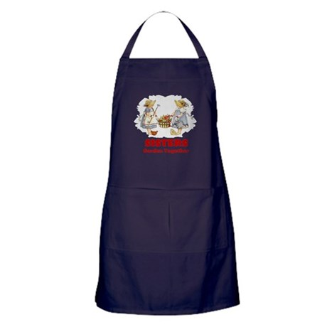 Sisters Garden Together Apron (dark)