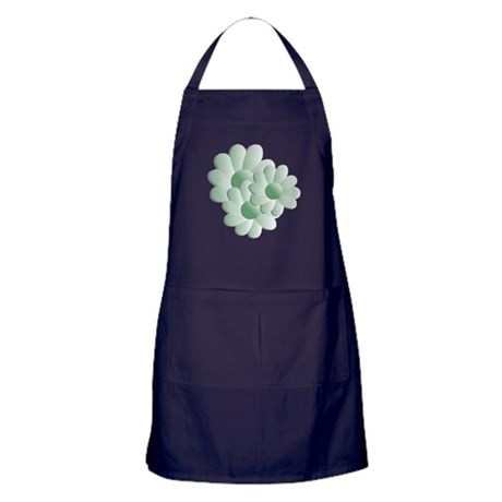 Pretty Daisy Trio - Green Apron (dark)