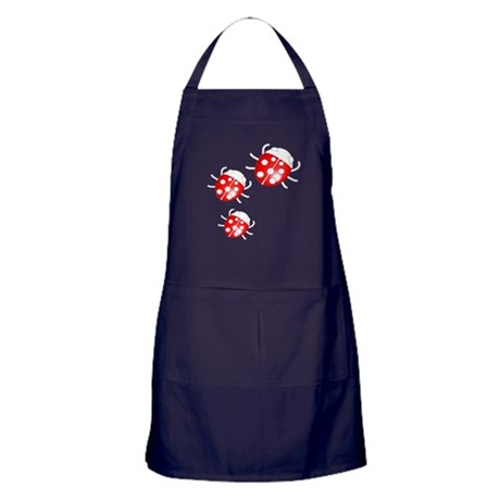 Lady Bugs Apron (dark)