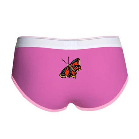Orange Butterfly Women's Boy Brief