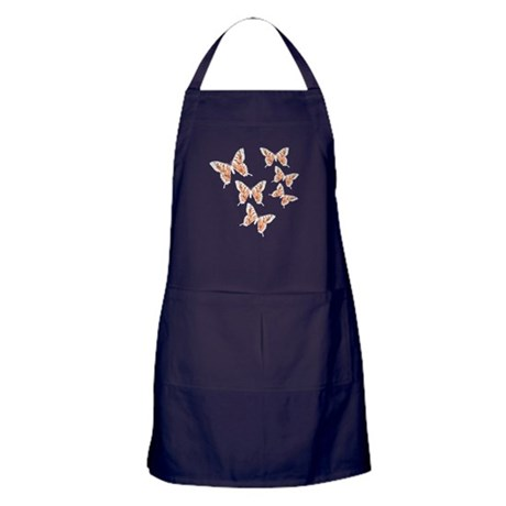 Orange Butterflies Apron (dark)
