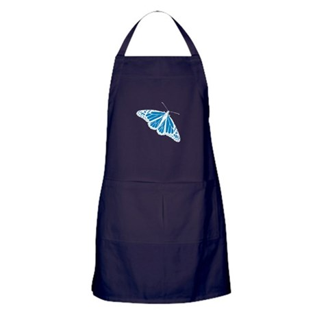 Blue Butterfly Apron (dark)