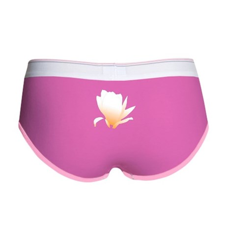 Pastel Orange Bloom Women's Boy Brief